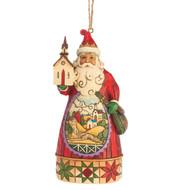 Jim Shore - Santa Church Scene Ornament