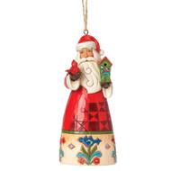 Jim Shore - Santa/ Birdhouse Ho Ornament