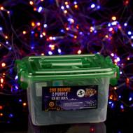 3m x 2m Orange/Purple Colour Net Light with Green Wire