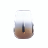 Copper & Clear Ombre Tumbler Glass