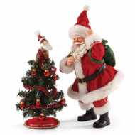 SANTA CLAUS and CAT TREE TOPPER - DEPARTMENT 56