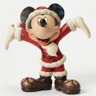 Christmas Cheer Santa Mickey Ornament Jim Shore