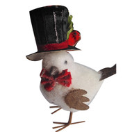 16cm Christmas Bird with Top Hat