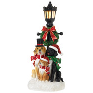 LED Light-Up Lamppost with Dogs-36cm