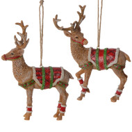 Festive Reindeer Christmas Ornament