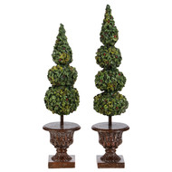Set of 2 Topiary Trees in Pots-46cm