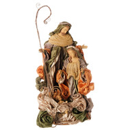 Gold and Mocha Satin Holy Family-56cm