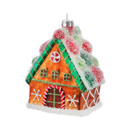 Gingerbread House Glass Ornament-12cm