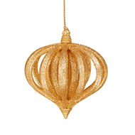 Gold Glitter Layered Onion Ornament
