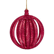 Red Glitter Layered Ornament