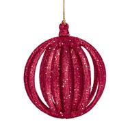 Red Glitter Layered Ornament
