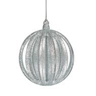 Silver Glitter Layered Ornament
