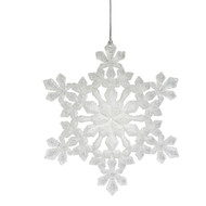 White Acrylic Snowflake Ornament