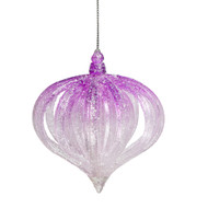 Pink and White Layered Onion Ornament - 10cm