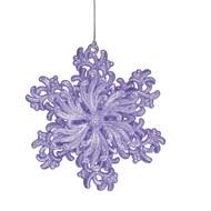 Violet Filigree Snowflake Ornament