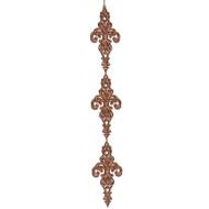 Bronze Fleur-de-Lis Drop Ornament