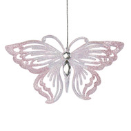 Pink Jewelled Butterfly Ornament -