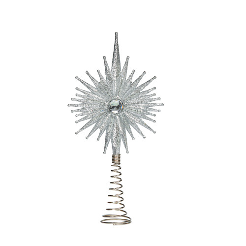 Silver Burst Tree Topper