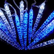 15pc Acrylic Battery Icicle Light Set - Blue/White