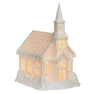 White Light-Up Church