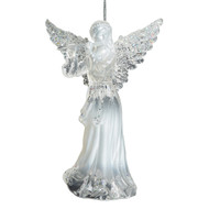 Acrylic Angel with Flute Hanging Ornament