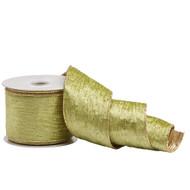 Green & Gold Velvet Ribbon - 10m