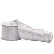 White & Silver Poinsettia Ribbon