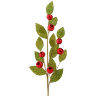 Red & Green Leaf Spray