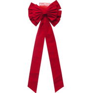 Jumbo Red Flocked Bow - 120cm