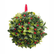 Hanging Holly & Berry Ball - 22cm