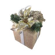 Champagne Gift Box Decoration - 18cm
