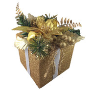 Gold Gift Box Decoration-18 cm