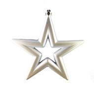 Shiny Silver Stars (Set of 6) - 14cm