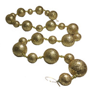 Gold Glittered Bauble Garland-170 cm