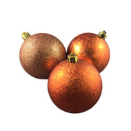 Textured Copper Baubles