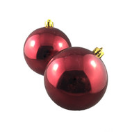 Shiny Red Baubles (Pack of 4)