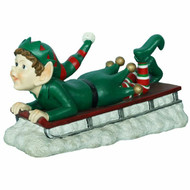 Christmas Elf on Sleigh -29 cm