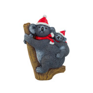 Christmas Koala with Baby Figurine - 24cm