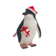 Penguin with Candy Cane Figurine
