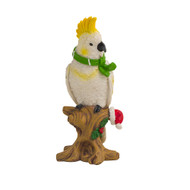 Christmas Cockatoo Standing Ornament