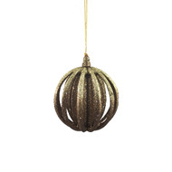 Bronze Layered Ball Hanging Ornament - 11 cm