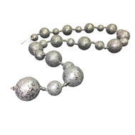 Silver Glittered Bauble Garland