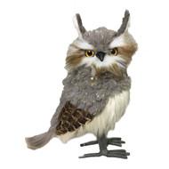 Dark Grey Feather Owl