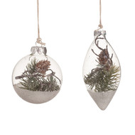 Glass Pinecone Ornament
