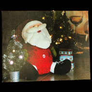 Light Up Santa Claus Canvas Print - 50cm
