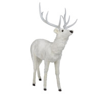Animated Blitzen the White Standing Reindeer