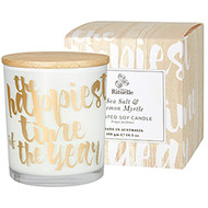 Sea Salt & Lemon Myrtle Scented Soy Candle