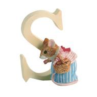 Beatrix Potter Classic - Letter S Mrs Tittlemouse Figurine