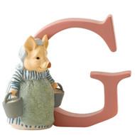 Beatrix Potter Classic - Letter G Aunt Pettitoes Figurine