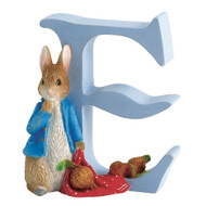 Beatrix Potter Classic - Letter E Peter Rabbit Figurine